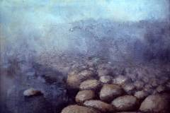 Round Rocks in Mist