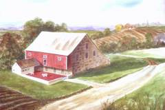A View of the Barn 14.5x21